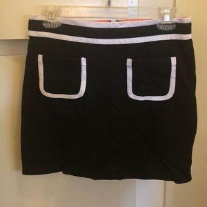 Banana Republic black and white skirt